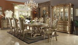 Acme Furniture  Vendome 63000  Baroque Gold Patina Dining Ro