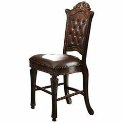 ACME Vendome Faux Leather Counter Height Chair Set of 2