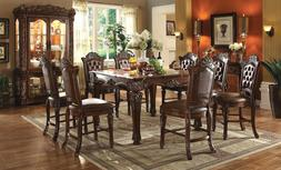 ACME Vendome counter height dining set cherry finish elegant