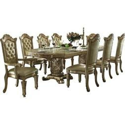ACME Vendome Gold Patina Dining Table