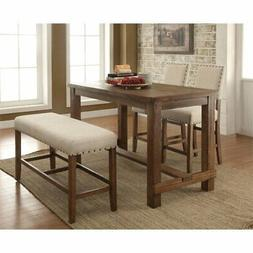Furniture of America Whunter 4 Piece Counter Height Dining S
