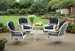 Wicker Patio Furniture Clearance Dining Room Set Outdoor Whi