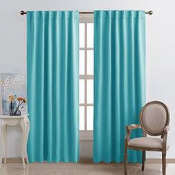 NICETOWN Window Treatment Solid Blackout Curtains -  52x84 I
