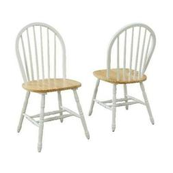 Windsor Chair Set of 2 Solid Wood Dining Room Furniture Kitc