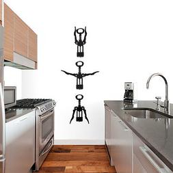 Wine Openers Set - Kitchen & Dining Room Bar Wall Decals