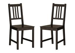 Ikea Wood Chairs Dining Room Kitchen Dinette 2 Chairs