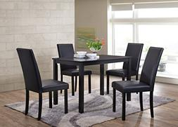 Kings Brand Wood Dining Dinette - Kitchen Table & 4 Upholste