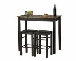Wood Small dining set 3-Piece Counter Table and Stools New F