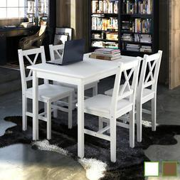 vidaXL Kitchen Dining Set Wooden Furniture Seat Table and Ch