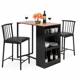 Best Choice Products Wooden Small Dining Room Table With Cha