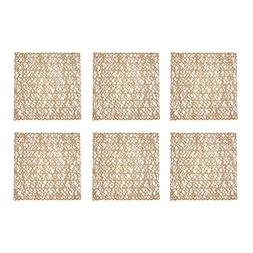 DII Woven Paper Square Decorative Placemat or Charger for Ho