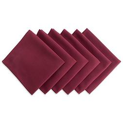 """DII Wrinkle Resistant 20x20"""" Polyester Napkin, Pack of 6, Wi"""