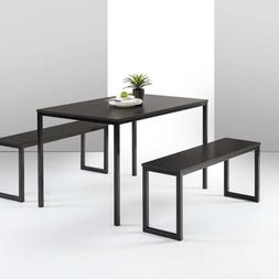 Zinus Modern Studio Collection Soho Dining Table With Two Be